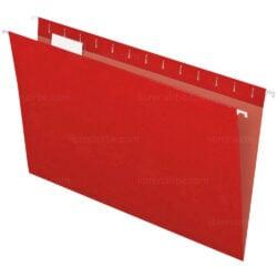Folder Colgante - Gavetero Tamaño Oficio Rojo