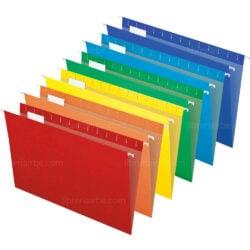 Folderes Colgantes - Gaveteros Tamaño Oficio por Unidad (6 Colores)