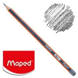 Lápiz de Grafito Triangular Negro Maped Black'Peps HB